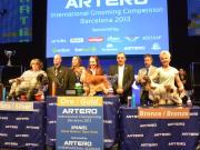 """Bronzemedaille  """"Artero Grooming Competition"""" in Spanien Offene Klasse- Spaniel/ Setter Margit Schönauer Wien"""