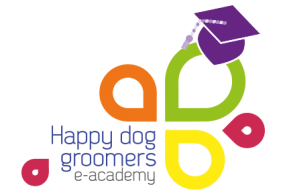 Logo Happy Dog Groomers E-Academy